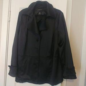 Sleek Shiny Overcoat